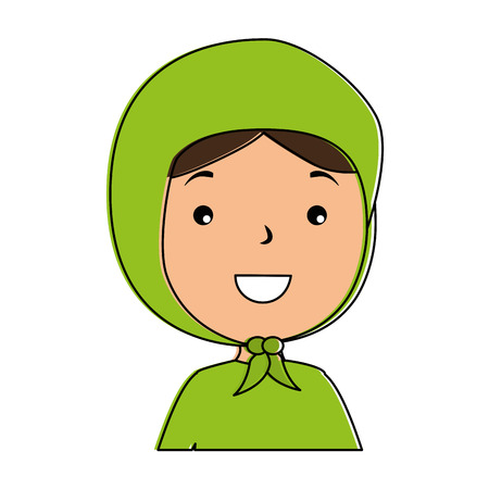 Muslim girl avatar character vector illustration design Illustration