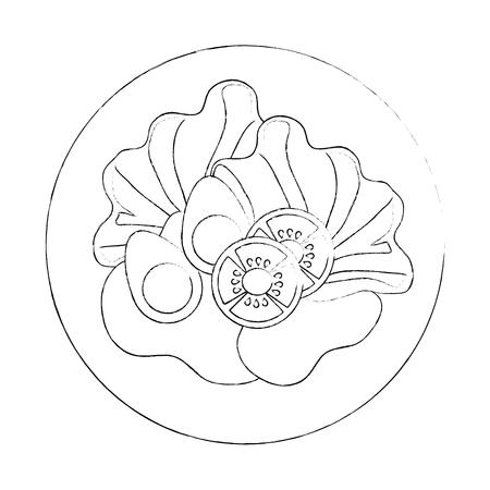 Köstliche Salat gesunde Lebensmittel Vektor-Illustration Design Standard-Bild - 95617158