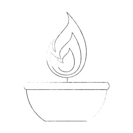 Candle flame isolated icon vector illustration design Foto de archivo - 95617165
