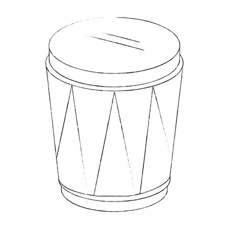 Tropical drum instrument icon vector illustration design