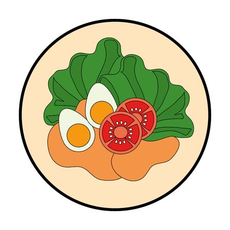 Delicious salad healthy food vector illustration design Illustration