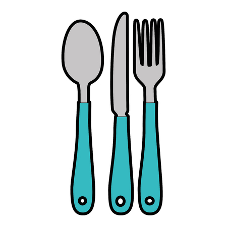 Set of cutlery isolated icon vector illustration design Illustration