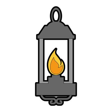 Kerosene lantern hanging icon vector illustration design Illustration