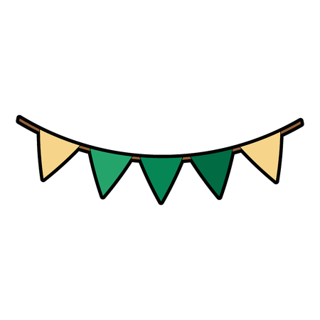 パーティーガーランド装飾ハンギングベクターイラストデザイン  イラスト・ベクター素材