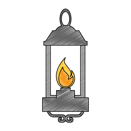 Isolated lantern lit illustration.
