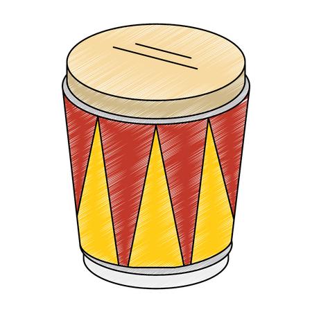 tropical drum instrument icon. Illustration