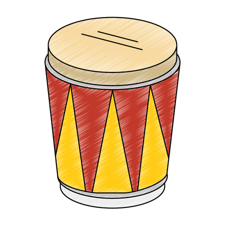 tropical drum instrument icon. 向量圖像
