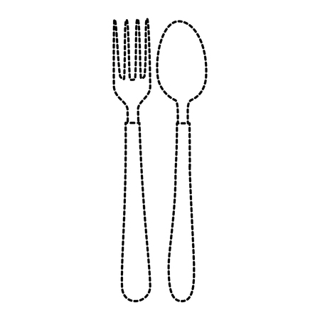 Isolated spoon and fork.