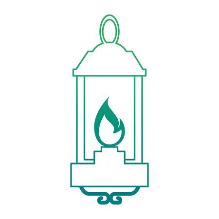 kerosene lantern hanging icon vector illustration design