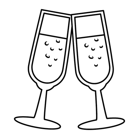 Champagne glass isolated icon vector illustration design