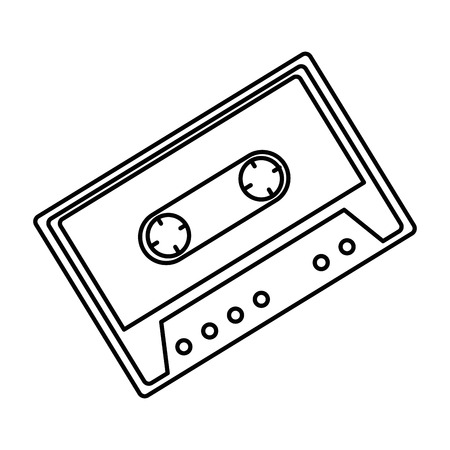 Retro cassette sticker icon vector illustration design Illustration