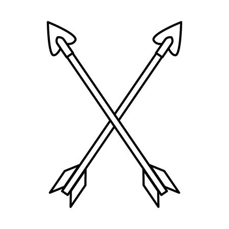 Arrows crossed isolated icon vector illustration design