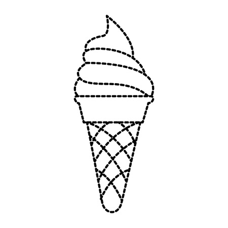 Delicious ice cream icon vector illustration design Illusztráció