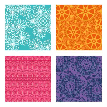 Color mandala pattern background vector illustration design Banque d'images - 95560467