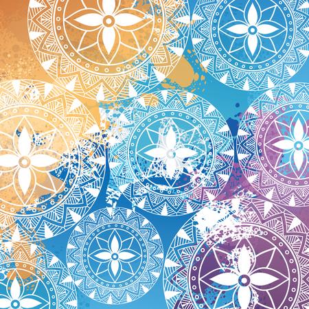Color mandala pattern background vector illustration design Banque d'images - 95560478