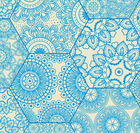 Color mandala pattern background vector illustration design, 向量圖像
