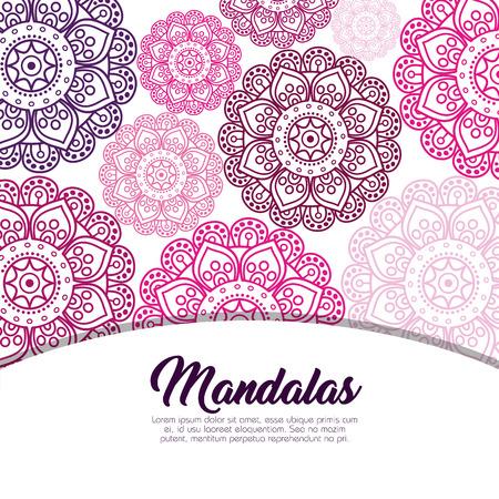 Pastel color mandala pattern background vector illustration design