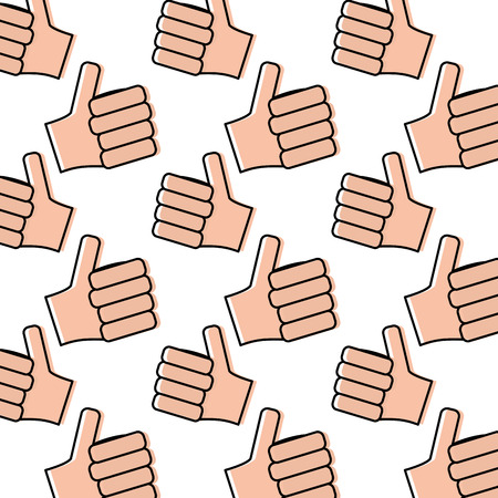hands showing like making thumb up gesture collection vector illus Illustration