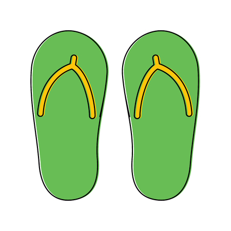 flip flop footwear rubber accessory vector illustration Иллюстрация
