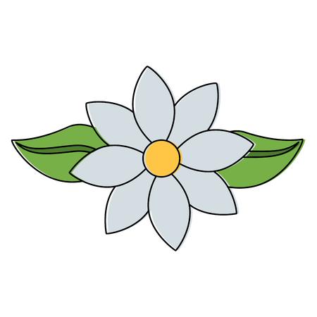 Jasmine flower leaves decoration ornament vector illustration