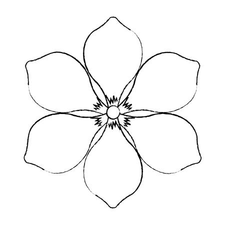 フランジパニ花ナチュラルブルーム装飾装飾ベクトルイラストデザイン  イラスト・ベクター素材