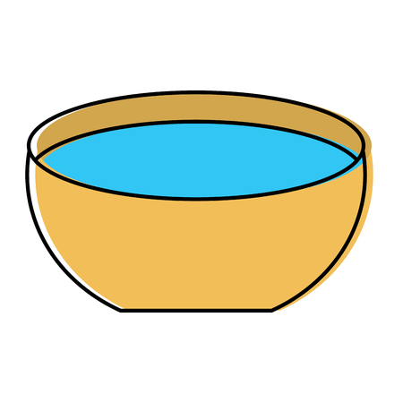 Bowl water fresh liquid clean icon vector illustration Illustration