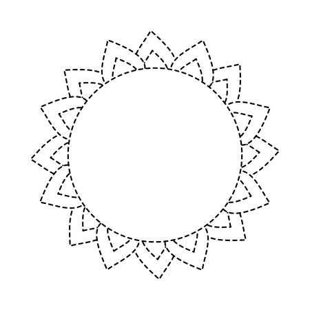 Weather sun summer forecast hot vector illustration dotted line design