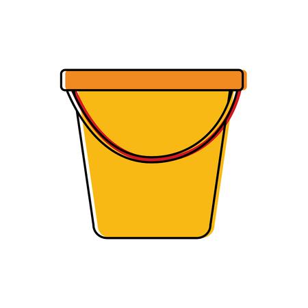 Plastic bucket  vector illustration Vettoriali