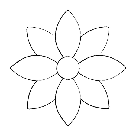 Flower jasmine ornament decoration delicate vector illustration sketch design
