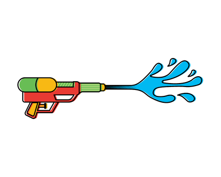 Water gun shoot splash toy plastic vector illustration vector illustration