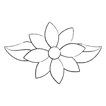 Jasmine flower leaves decoration ornament vector illustration sketch design Иллюстрация