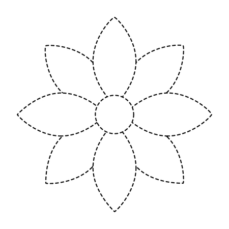 Flower jasmine ornament decoration delicate vector illustration dotted line design Illustration