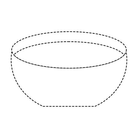 水アイコンベクトルイラスト点線デザインのボウル  イラスト・ベクター素材