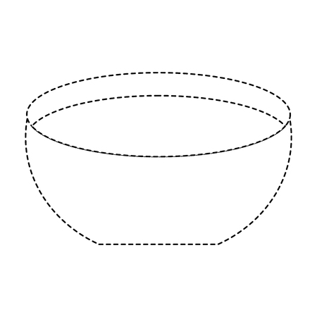 Bowl with water icon vector illustration dotted line design Иллюстрация