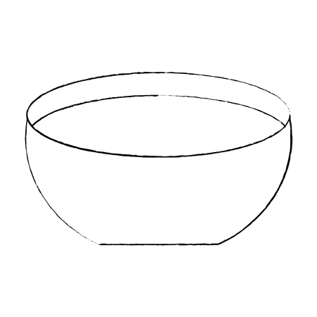 Bowl with water icon vector illustration sketch design