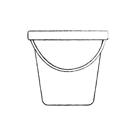 Plastic bucket  vector illustration sketch design Illusztráció