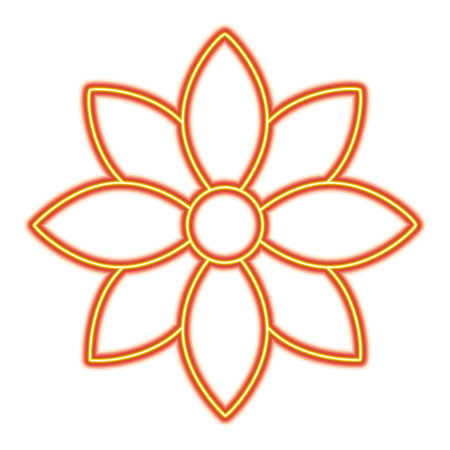 Flower jasmine ornament decoration delicate vector illustration orange and yellow line image Banco de Imagens - 95616302