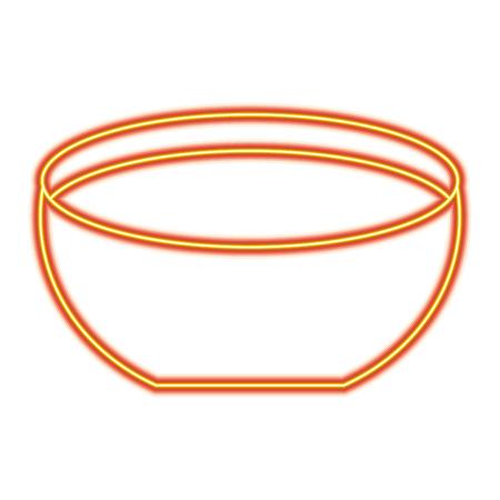 ボウルアイコンベクトルイラストオレンジと黄色の線の画像  イラスト・ベクター素材