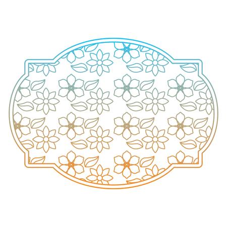 Floral label, decoration natural jasmine flower vector illustration Иллюстрация