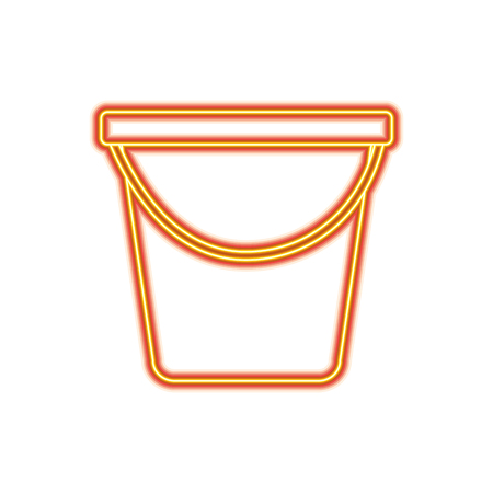 Plastic bucket container vector illustration orange and yellow line image Illusztráció