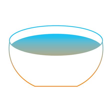水アイコンベクトルイラストがカラーライン画像を劣化させたボウル