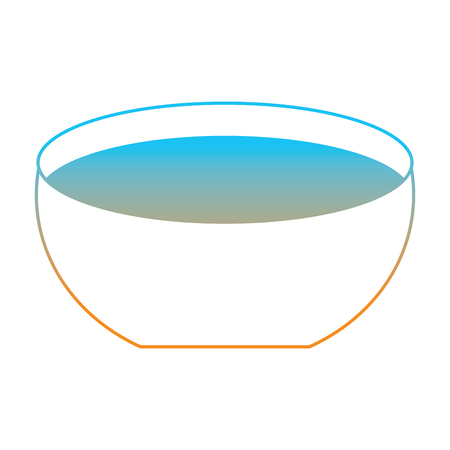 Bowl with water icon vector illustration degrade color line image