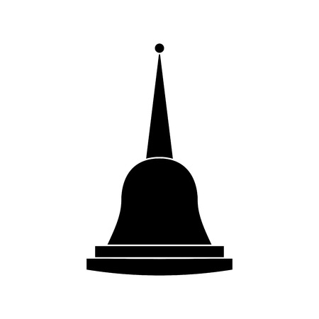 pagoda thailand temple shape bell culture vector illustration black and white image