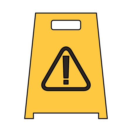 slippery wet floor sign warning cleaning vector illustration Ilustração