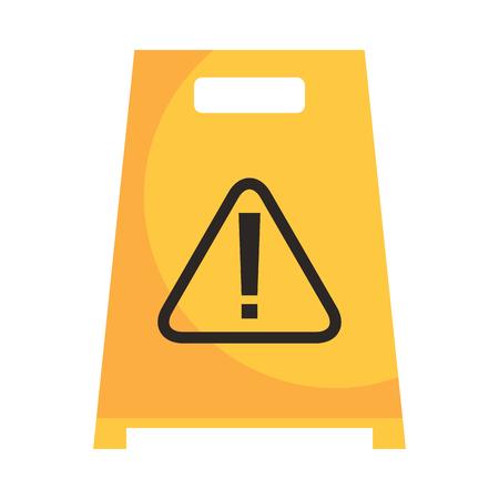 Slippery wet floor sign warning cleaning vector illustration Illustration