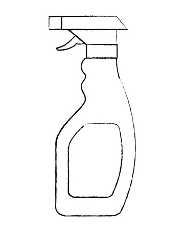 plastic bottle spray hygiene cleaning vector illustration sketch image graphic