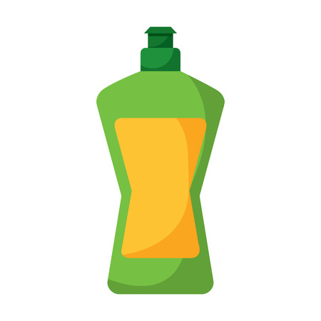 Plastic bottle detergent for dish washing liquid cleaning laundry vector illustration