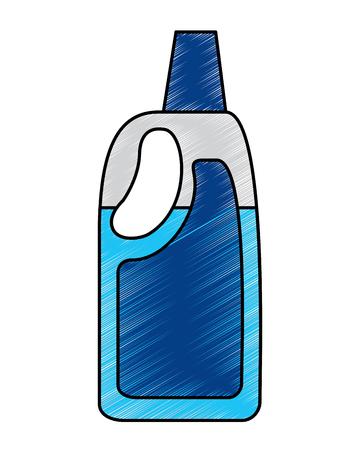 Bottiglia di plastica detergente della candeggina per l'illustrazione liquida di vettore di pulizia