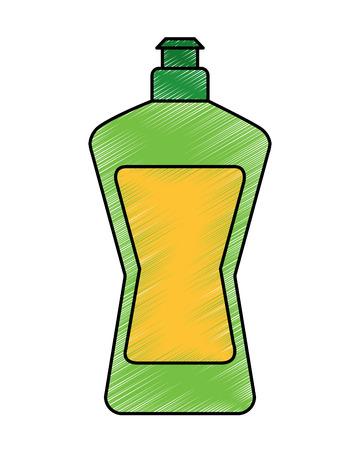 Plastic bottle detergent for dishwashing liquid cleaning laundry vector illustration 일러스트