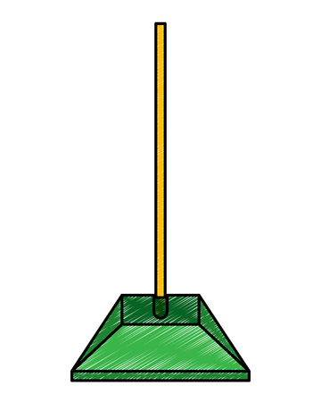 dustpan equipment plastic clean garbage vector illustration